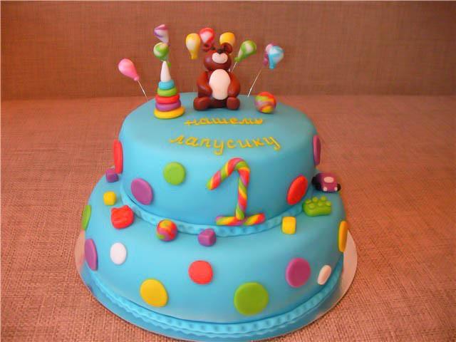Торт из мастики своими руками фото 1 год